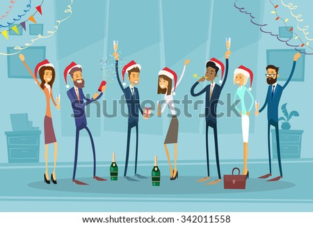 stock-vector-business-people-celebrate-merry-christmas-and-happy-new-year-office-business-people-team-santa-hat