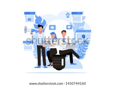 Business people character vector design. Digital Agencies concept.