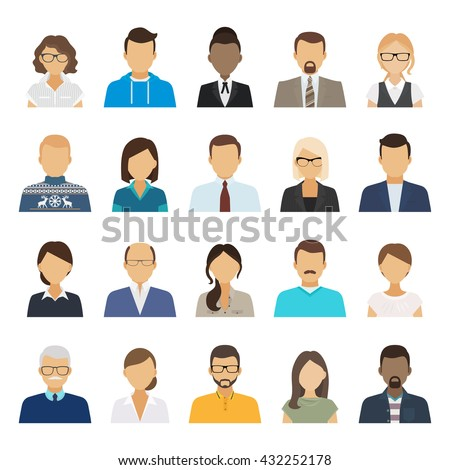 business people flat avatars