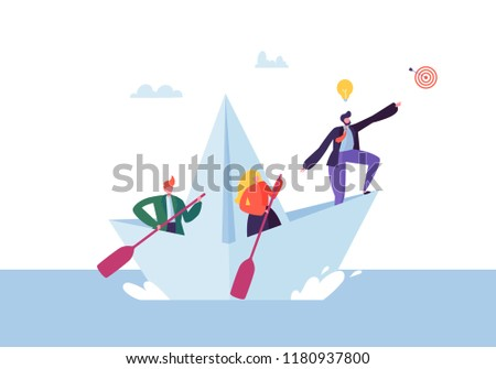 business people floating on a