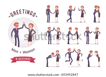 business people greeting