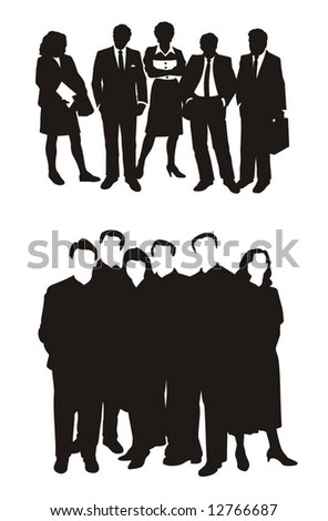 business people groups vector illustration