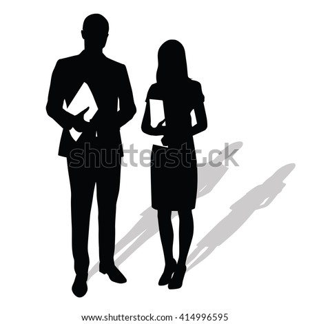 business people holding papers