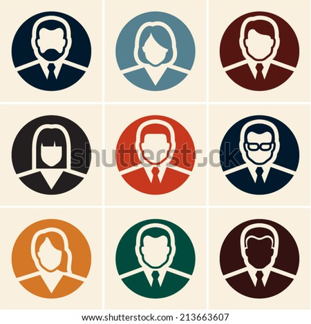 Business people icons. Avatar. User icon.