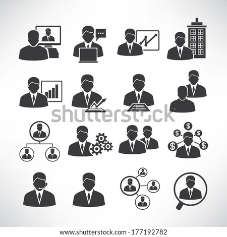 business people icons, business icons