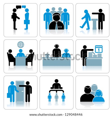Business People Icons. Vector Set