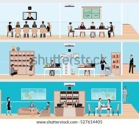 business people in the interior