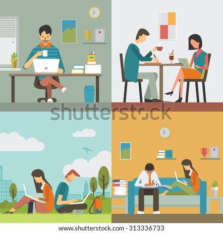 business people  man and woman