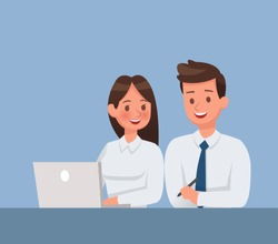 Business people meeting in office character vector design
