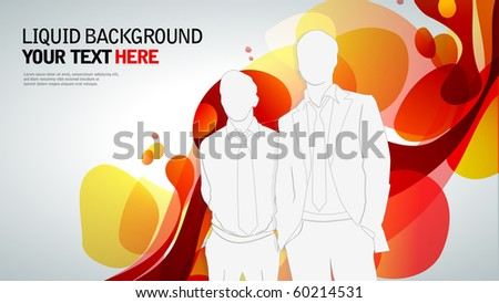 Business people on an abstract background. template