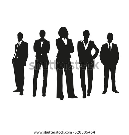 Business people on silhouettes