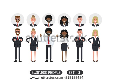 business people set 3 isolated
