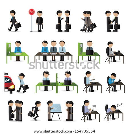 Business People Set - Isolated On White Background - Vector Illustration, Graphic Design Editable For Your Design