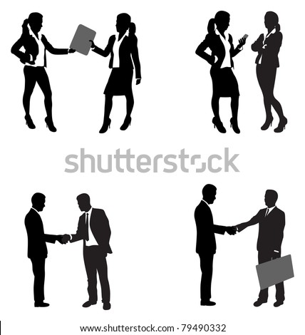 business people shaking hands - stock vector