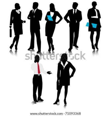 Business people silhouette.Vector