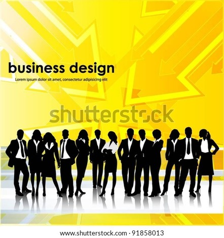 business people team with arrows background vector