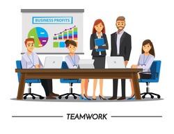 Business People teamwork ,Vector illustration cartoon character.