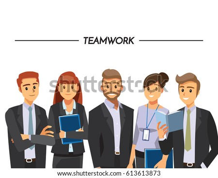 Business People teamwork ,Vector illustration cartoon character.