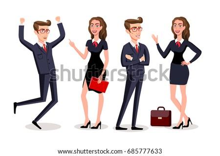 Business People teamwork ,Vector illustration cartoon character. art