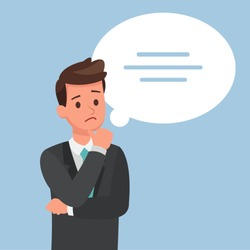 business people thinking character vector design