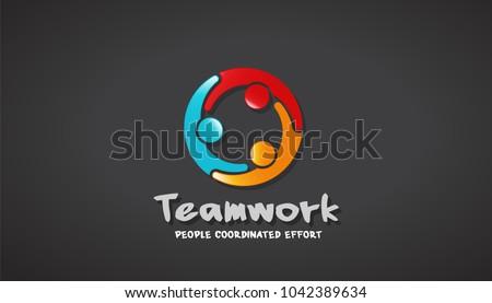 Business People Together. Vector Illustration Logo