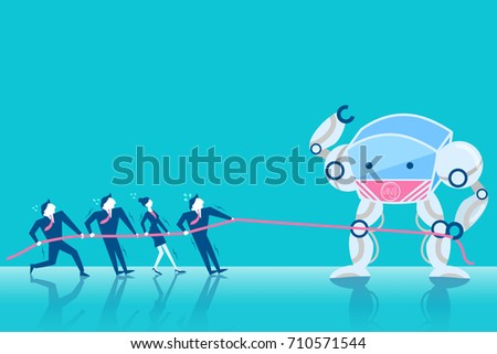 business people tug of war with
