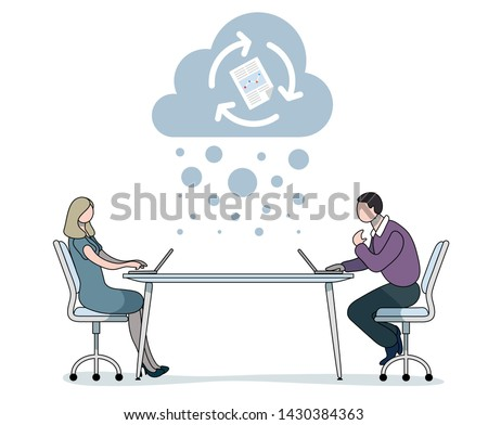 business people typing at