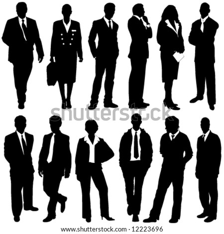 stock vector : business people vector