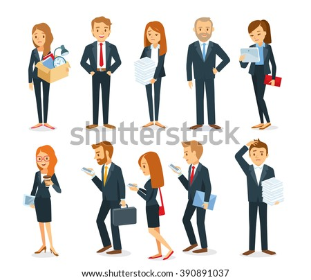 business people with documents and gadgets
