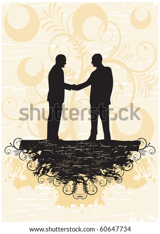 Business peoples in abstract background - stock vector