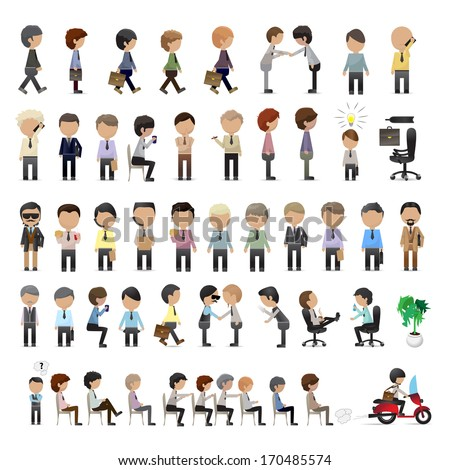 Business Peoples - Isolated On White Background - Vector Illustration, Graphic Design Editable For Your Design.