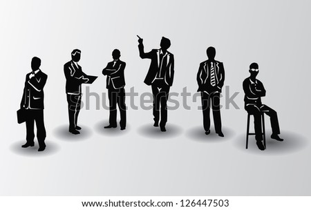 Business peoples on white background,vector