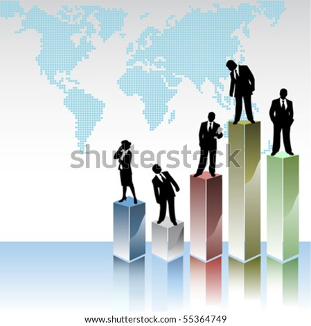 business peoples with statistic graphics
