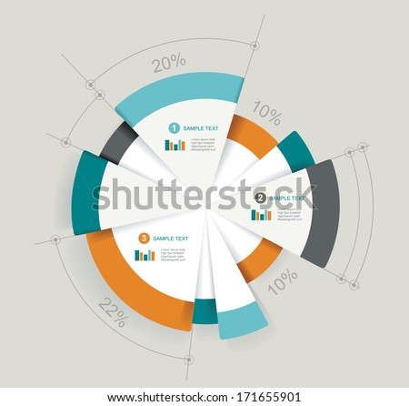 Business pie chart for documents and reports for documents, reports, graph, infographic, business plan, education