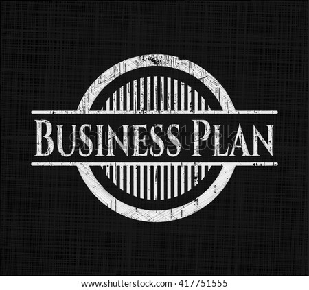 Business Plan chalkboard emblem