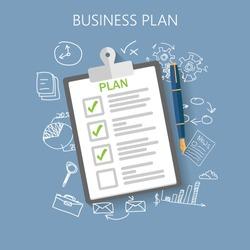 Business plan Flat vector illustration