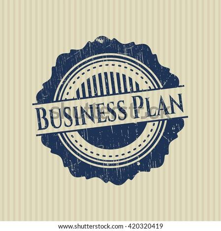 Business Plan grunge stamp