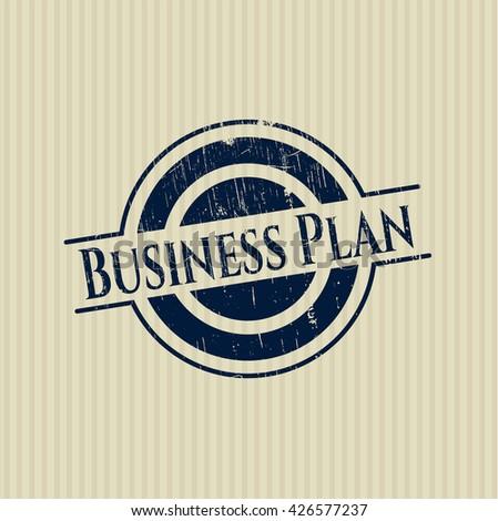 Business Plan grunge style stamp
