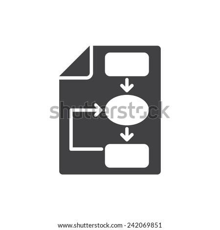Business plan icon, flat design