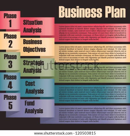 Business plan modern design template presentation with - Business plan for web design company ...
