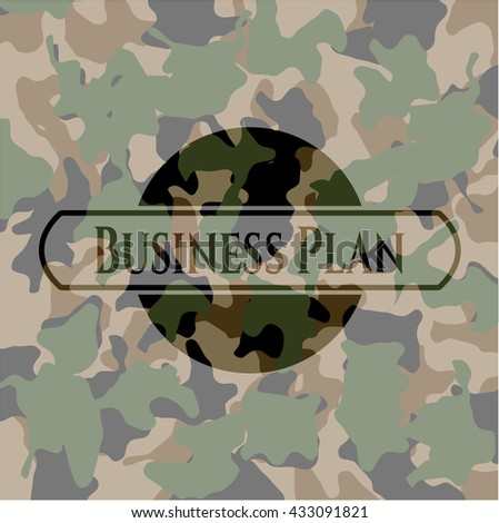 Business Plan on camo texture