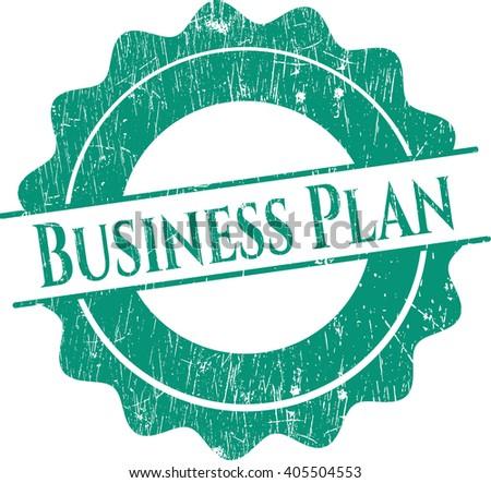 Business Plan rubber grunge stamp