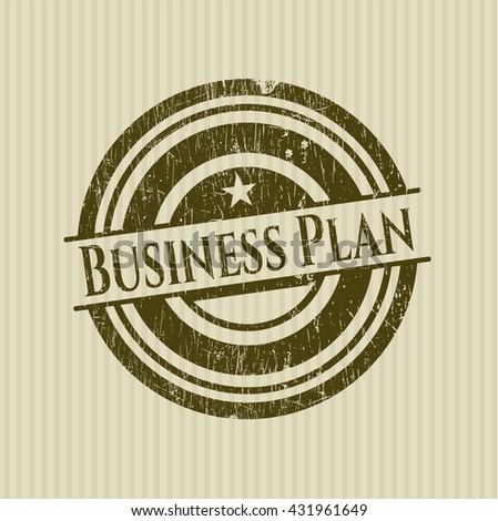 Business Plan rubber grunge texture seal