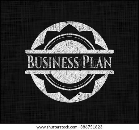Business Plan written on a blackboard
