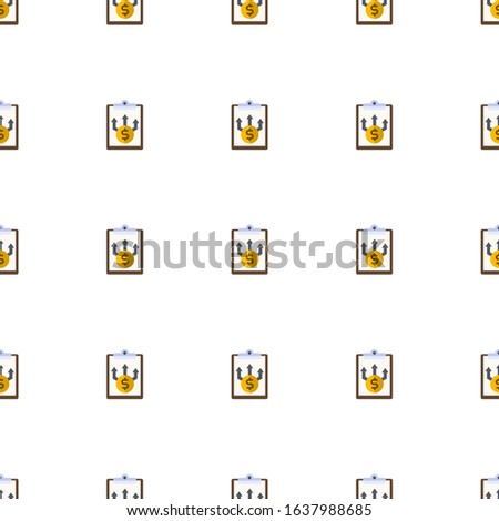 Business Planning icon pattern seamless isolated on white background. Editable flat Business Planning icon. Business Planning icon pattern for web and mobile.