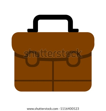business portfolio illustration, office suitcase - Briefcase icon