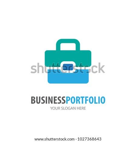 Business portfolio logo for business company. Simple Business portfolio logotype idea design. Corporate identity concept. Creative Business portfolio icon from accessories collection.