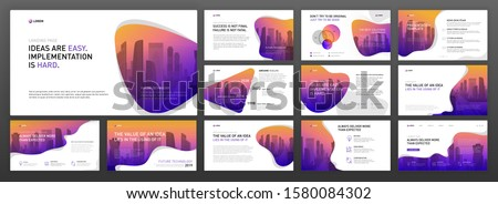 Business powerpoint presentation templates pack. Use for keynote background, brochure design, website slider, landing page, annual report, company profile, social media banner.