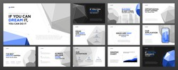 Business powerpoint presentation templates set. Use for keynote presentation, brochure design, website slider, landing page, annual report, company profile, portfolio.