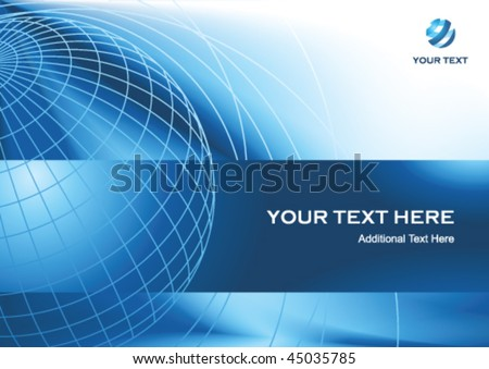 Business presentation background with globe and copy space, vector illustration - stock vector
